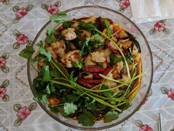 Spicy Fish With Noodles and Vegetables